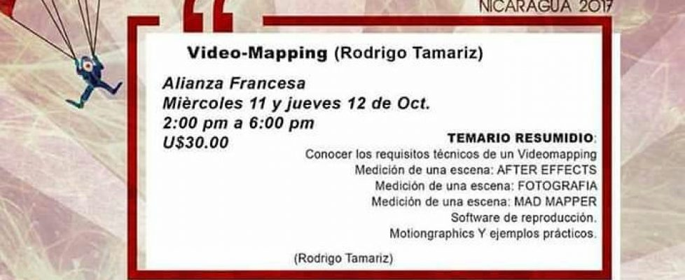 Curso de Videomapping Nicaragua